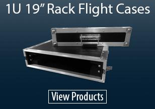 "1U 19"" Rack Flight Cases"