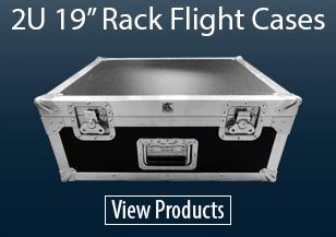 "2U 19"" Rack Flight Cases"