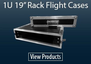 "1U 19"" Rack Flight Cases"