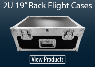 "2U 19"" Rack Flight Cases"