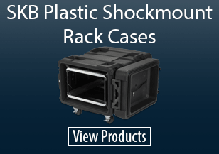 SKB Plastic Shockmount Rack Cases