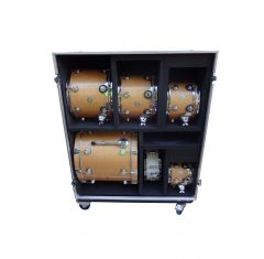 Drum Kit Flight Case with 7 Compartments